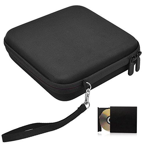Hihey Estuche portátil para Almacenamiento de Viaje para grabadoras de BLU-Ray DVD USB externas para Unidades ópticas