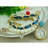 Montres pour Femmes Perle Montre Bracelet Ancre de la Mode coréenne Montre Pendentif...