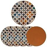 Posavasos redondos de 6 piezas, posavasos decorativos para tazas y tazas, decoración de azulejos Alhambra palace España