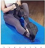 Correa elástica para yoga,Cinturón de estiramiento de yoga Banda elástica banda de gimnasia,para entrenamiento de piernas, fisioterapia,Aumentar la fuerza, aliviar el dolor de tendinitis de Aquiles