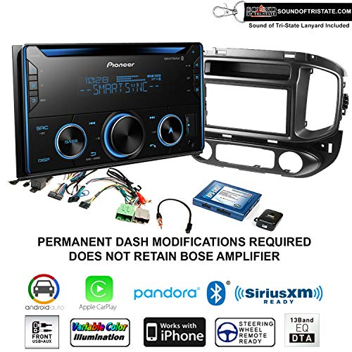 Pioneer FH-S520BT CD Receiver + Install Kit fits 2015-2017 Chevrolet Colorado, GMC Canyon with Sound of Tri-State Lanyard Bundle