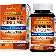 Organic Turmeric Curcumin with BioPerine and 95% Curcuminoids, 1960mg, 180 Veggie...