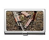 Estuche para tarjetas de crédito para empresas profesionales/estuche de identificación, titular de la tarjeta de acero inoxidable para armas Ak-74