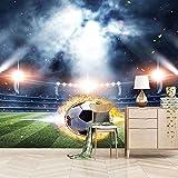 FVGKYS Wandgemälde Benutzerdefinierte Wandbild Tapete 3D Fußballstadion Wandtattoo Kinderzimmer Wohnzimmer Schlafzimmer Fotowand Papier Selbstklebend Tapeten Wanddekoration 150x105cm