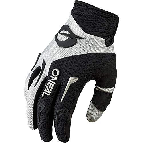 O\'NEAL | Fahrrad-& Motocross-Handschuh | MX MTB DH FR Downhill Freeride | Langlebige, Flexible Materialien, belüftete Handinnenfäche | Element Glove | Herren | Schwarz Grau | Größe L