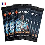 Magic: The Gathering- Confezione da 6 booster edizione base 2021 (90 carte)