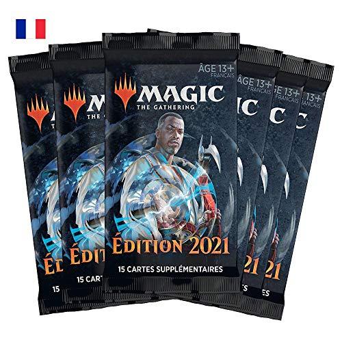 Magic: The Gathering- Pack de 6 boosters Édition de Base 2021 (90 Cartes)