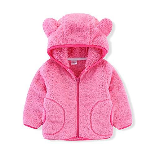 Girls Hooded Coat Toddler Kids Baby Boy Cute Ear Zipper Fleece Thick Hooded Coat Warm Flannel Outwear Snow Wear Clothes