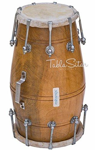 Maharaja Musicals Dholak Drum, Mango Wood, Bolt-tuned, Padded Bag, Spanner, Dholki Musical Instrument (PDI-104)