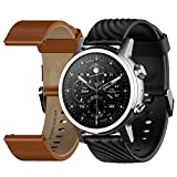 Moto 360 3rd Gen 2020 - Wear OS by Google - The Luxury Stainless Steel Smartwatch with Included Genuine Leather and High-Impact Sports Bands - Steel Gray