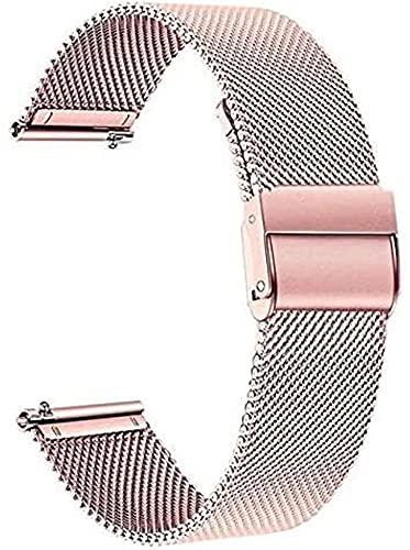 chenghuax Reloj Correa, Reloj de Reloj de Acero Inoxidable de Malla Compatible para Samsung Galaxy Watch Active 2 40mm 44mm Banda Strap de liberación rápida ACTIVE2 Pulsera de Pulsera