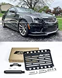 Extreme Online Store Replacement for 2013-Present Cadillac ATS NO PDC Models   EOS Plate Version 1 Front Bumper Tow Hook License Relocator Mount Bracket Tow-374 (Mid Size)