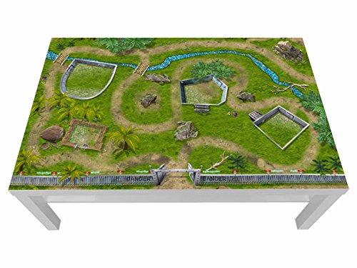 Stikkipix Dino Möbelfolie | LCG07 | passgenau für den Lack Spieltisch von IKEA (Möbel Nicht inklusive)