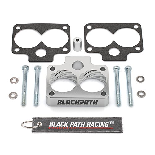 BlackPath - For Dodge Durango + Dakota + Ram Throttle Body Spacer Kit 3.9L + 5.2L + 5.9L Engines (Silver) T6 Billet