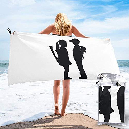 Unique Life Toalla de baño para niño y niña, toalla de gimnasio, toalla de playa, microfibra suave de secado rápido, ligero