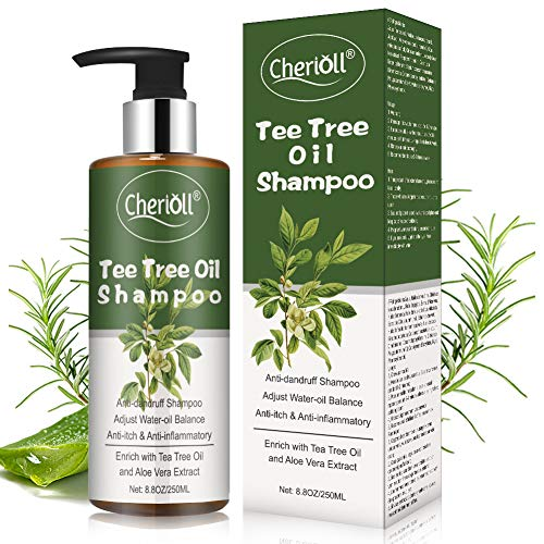 Tee Tree Oil Shampoo, Anti Dandruff Shampoo, Anti Drating Dandruff, Hair Loss Itchy, Shampoo for Dandruff Oily Itchy Scalp, Adjust Water-oil Balance & Anti-itch & Anti-inflammatory