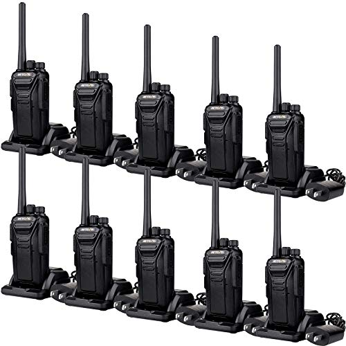 Retevis RT27 Walkie Talkies Long Range,Two Way Radios Rechargeable, Handheld VOX Hands-Free, Commercial 2 Way Radio with USB Charger Base, for Education, Construction, Warehouse (10 Pack)
