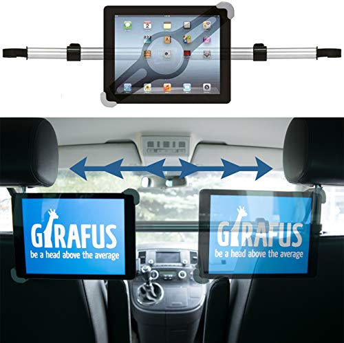 Girafus Support Tablette Voiture Appuie-Tête Central/ 9 10 11 Pouces pour iPad/Surface/Porte Tablette Banquette Arrière/pour Galaxy Tab HTC ASUS Relax H3 Universal