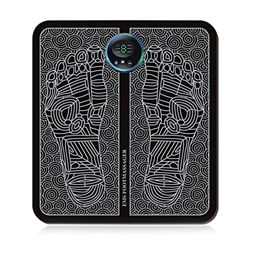 Benformning Fotmassagekudde, vikbar elektrisk massagefotplatta, fotplatta, fällbar pulsfotmassagedyna USB-laddning för att koppla av dina fötter LKWK