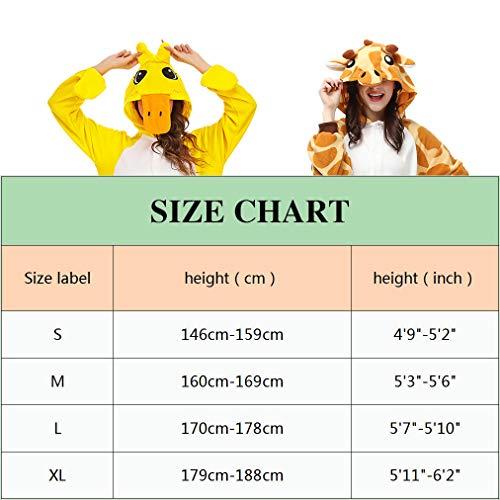 Pijamas Animales Mujer Disfraces de Cosplay para Adultos Pijama pinguino Enteros,XL
