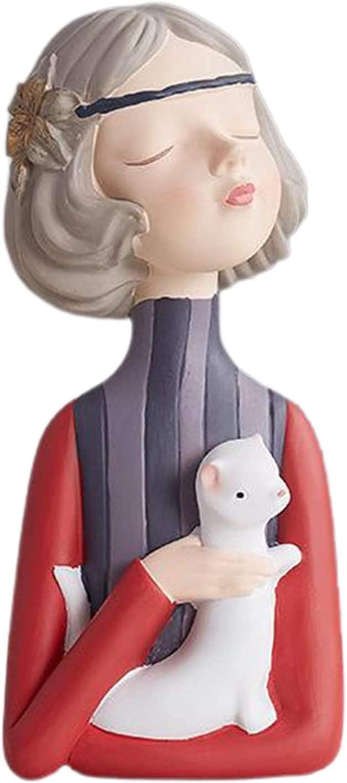 Girl Figurine Fashion Statue Ornaments Max 68% New life OFF Modern