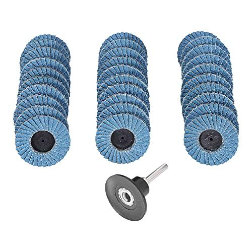 Milkvetch Discos de Lijado de Disco de Aleta de 50 Mm de 2 Pulgadas para Herramientas Abrasivas de Bloqueo de Rodillo Adapta una la Muela de Pulido de EliminacióN de óXido de Hierro