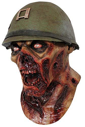 Máscara de soldado zombie