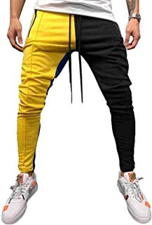 RkBaoye Mens Stitch Hip Hop Assorted Colors Relaxed-Fit Tapered Sweatpants