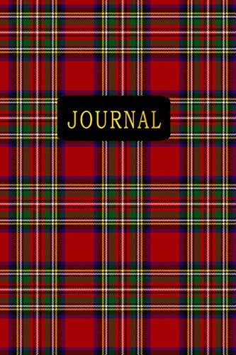 Journal: Stewart Plaid 6 x 9 120 Pages Personal Journal Notebook With Gold Typography