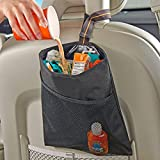 High Road Hanging Car Trash Bag with Leakproof Lining and Storage Pocket
