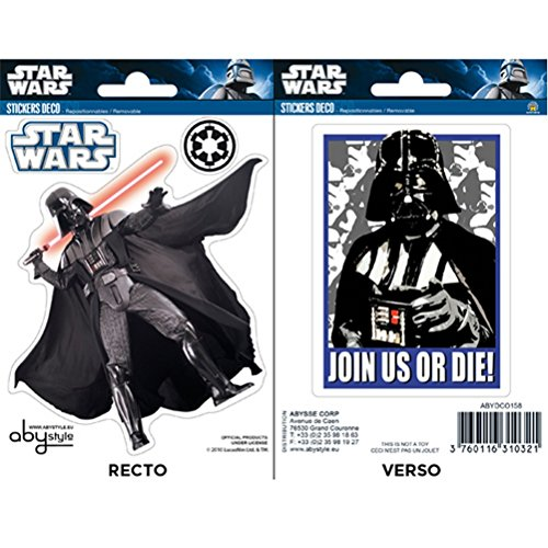 Star Wars ABYDCO158 - Stickers - 2 Planches - Vador - 16 x 11 cm