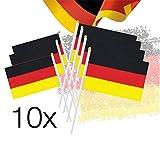 TK Gruppe Timo Klingler 10x Flaggen Fahnen Stockfahne Fähnchen Handfahnen Fanartikel Deutschland Deko Dekoration Fußball Weltmeisterschaft Russland 2018