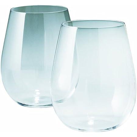 松徳硝子 うすはり グラス 葡萄酒器 ボルドー 330ml 木箱入り 2個 セット