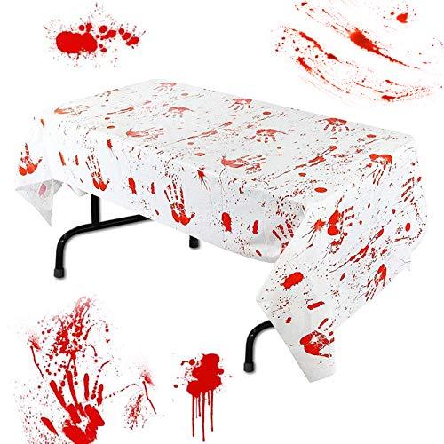 Mantel sangriento,Mantel de halloween,Decoración de fiesta de Halloween Mantel sangriento,Mantel Sangriento de Halloween,halloween decoracion mesa,halloween decoracion
