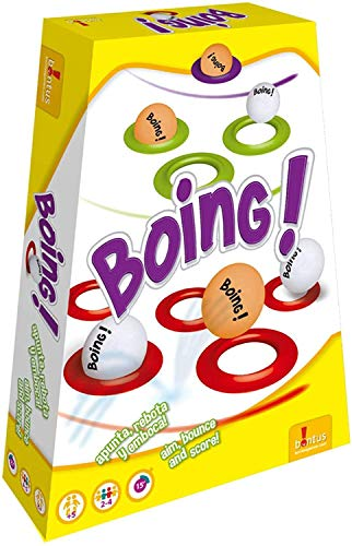 Boing! Exciting Bouncing Board Game for Friends and Family. Aim, Bounce and Score! A Game of Skill, Action, and Chance!
