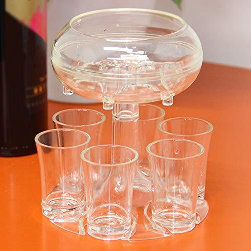 6 soportes para vasos de chupito – Dispensador para rellenar líquidos, dispensador de botellas de cristal, dispensador de cócteles