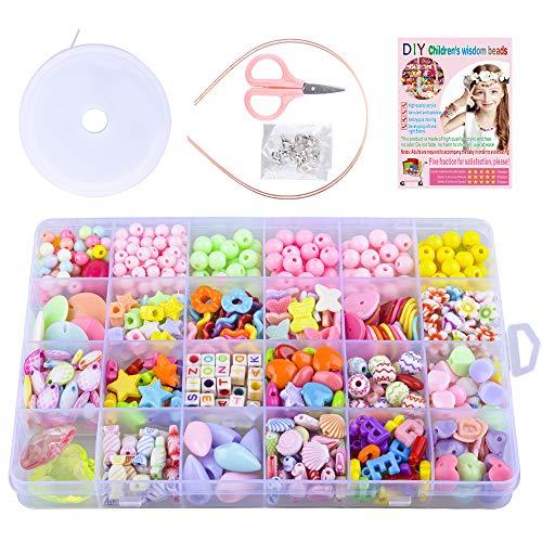SUNNYPIG Bracelet Making Kits for Girls Kids, Children DIY Bead Set Gift for 4-9 Year Old Kids Girls Birthday Gift for 4-9 Year Old Girls Children Birthday Present Age 3 4 5 6 7 Girls