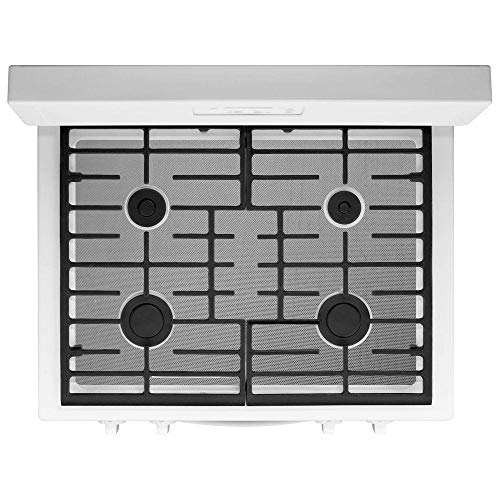 FireFly Home Stove Top Protector for Kitchen Aid Gas Range Stove, Custom Fit Ultra Thin Reusable Burner Splatter Spill Guard Protective Cover Liner in Silver - KFGD500EBS