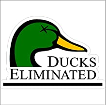 Ducks Eliminated...Hunting Decal Duck Hunting Car Truck Removable Hunter Sticker (5