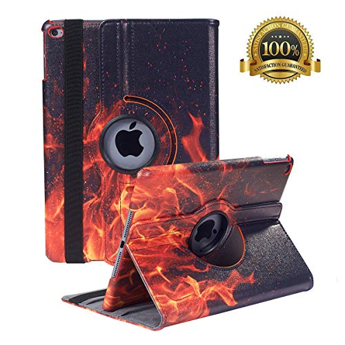 New iPad 9.7 inch 2018 2017/ iPad Air Case - 360 Degree Rotating Stand Smart Cover Case with Auto Sleep Wake for Apple iPad 9.7' (6th Gen, 5th Gen)/iPad Air(Fire)