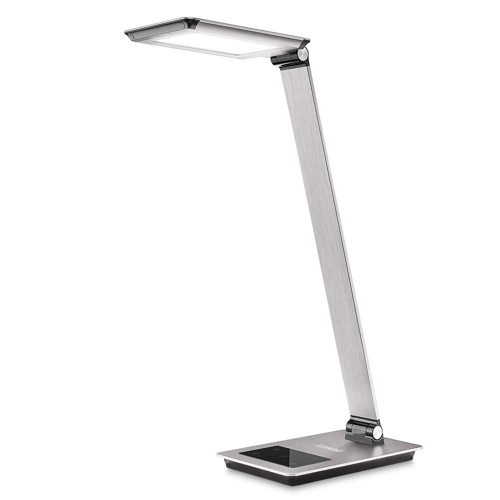 FeinTech LTL00100 LED Schreibtisch-Lampe Lichtfarbe warmwei/ß bis kaltwei/ß dimmbar 550 lm wei/ß
