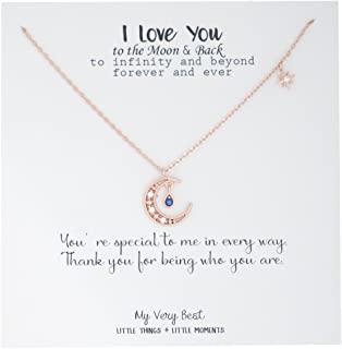 Best moon necklace rose gold Reviews