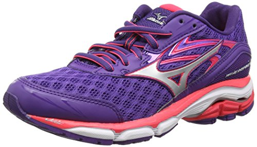 Mizuno Wave Inspire 12, Chaussures de Running Compétition femme - Violet - Purple (Royal Purple/Silver/Diva Pink) - 38 EU ( 5 UK)