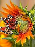 DIYダイヤモンド刺繡ひまわりラインストーンダイヤモンド絵画花フルドリルモザイククロスステッチキットの装飾家庭用
