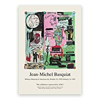 ジャンミシェルバスキア抽象絵画ファインアートキャンバスプリントギャラリー壁の写真ストリートアートポスターリビングルーム寝室の装飾40x60cmフレームなし