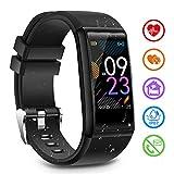 Fitness Armband mit Pulsmesser Fitness Tracker mit Blutdruckmessung Pulsuhren Fitness Uhr Aktivitätstracker Schrittzähler Schlafmonitor Uhr Wasserdicht IP67 Smartwatch Herren Damen für iOS Android
