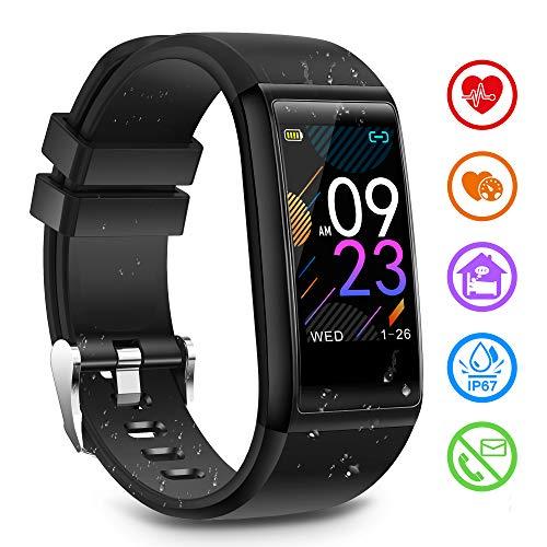 LIDOFIGO Smartwatch de Pantalla táctil,Pulsera Actividad con Sueño Ritmo Cardíaco,Monitor de Pasos, Calorías, Reloj Inteligente Impermeable IP67, Reloj Deportivo Compatible con iOS y Android