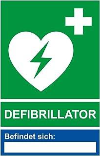 Aufkleber Defibrillator mit Leerfeld Standort   Vinylaufkleber (wetterfest)   115 x 175 mm