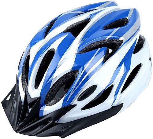 DesignSter Casco Bicicleta Unisex Adulto Unisexo Ajustable 57-63 cm con Visera y Forro Desmontable...