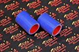 2 X Vito's Yamaha Banshee Exhaust Pipe Clamps 1 1/8' Shearer Cpi Blue Silicone